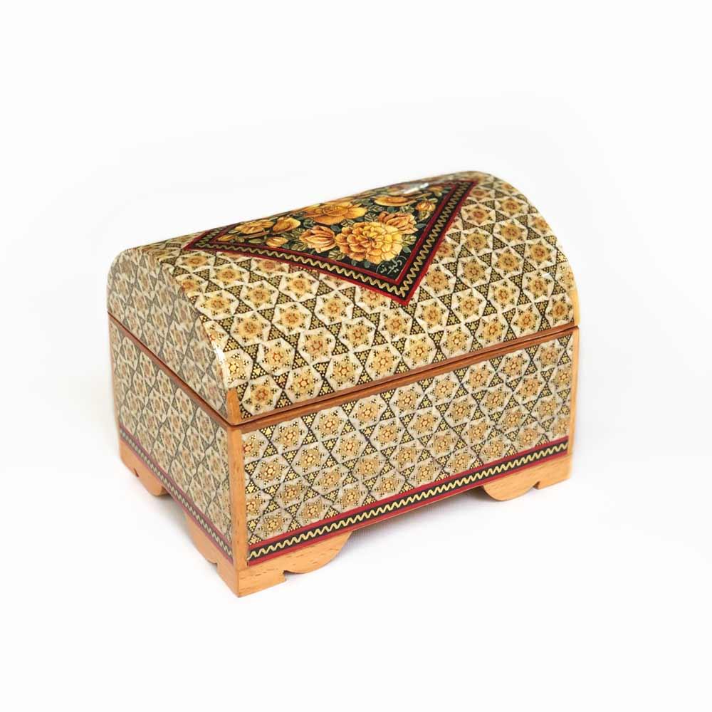 جعبه خاتم کاری مدل صندوقچه