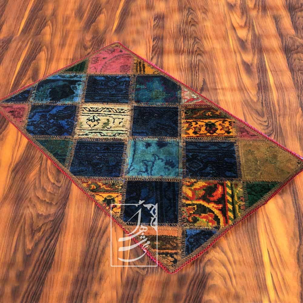 فرش چهل تکه دستباف 50 در 80 سانتی مدل ft-67