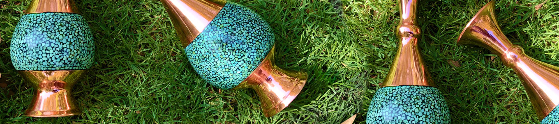 شکلات خوری فیروزه کوب پایه دار