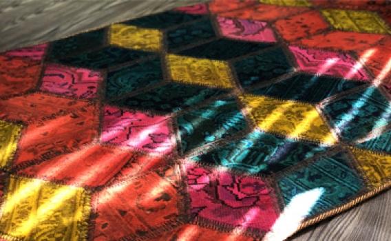 فرش چهل تکه، انتخابی شایسته برای دکوراسیون خانه شما