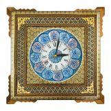 ساعت خاتمکاری مدل صلیبی با پلاک میناکاری 20 سانتی متر
