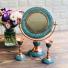 آینه و شمعدان فیروزه کوبی گرد 1