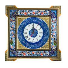 ساعت خاتم کاری مربع دور نقاشی پلاک25 سانت