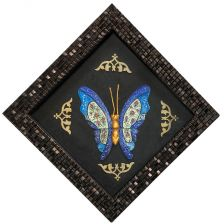 قاب با پلاک میناکاری مدل پروانه سایز کوچک