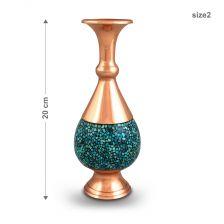 گلدان صراحی فیروزه کوبی 20 سانتی