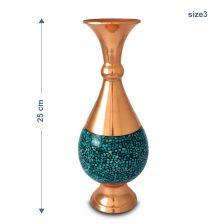 گلدان صراحی فیروزه کوبی 25 سانتی
