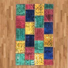 فرش چهل تکه دستباف 1در1/5 متری مدل ft-50