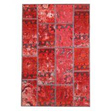فرش کلاژ چهل تکه دستباف طرح وینتیج