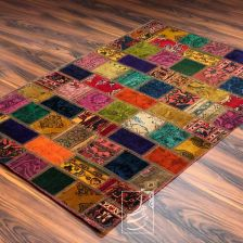 فرش چهل تکه دستباف 1 در 1/5 متری مدل ft-73