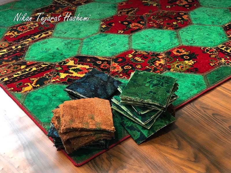 فرش تکه دوزی | فروشگاه صنایع دستی نیکان تجارت هاشمی
