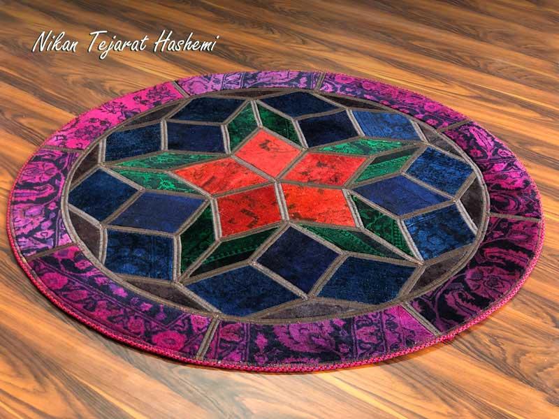 فرش چهل تکه دستباف | فروشگاه صنایع دستی نیکان تجارت هاشمی